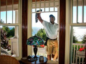 cleaned windows